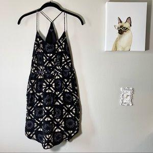 Madewell Starview Batik Grid Silk Cami Mini Dress